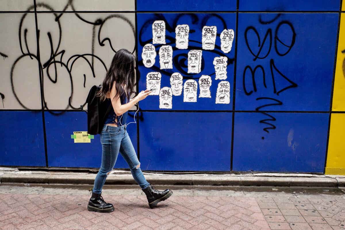 Tokyo urban art faces
