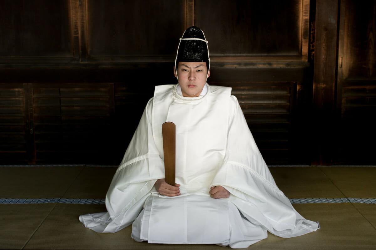 japanese shinto priest portrait