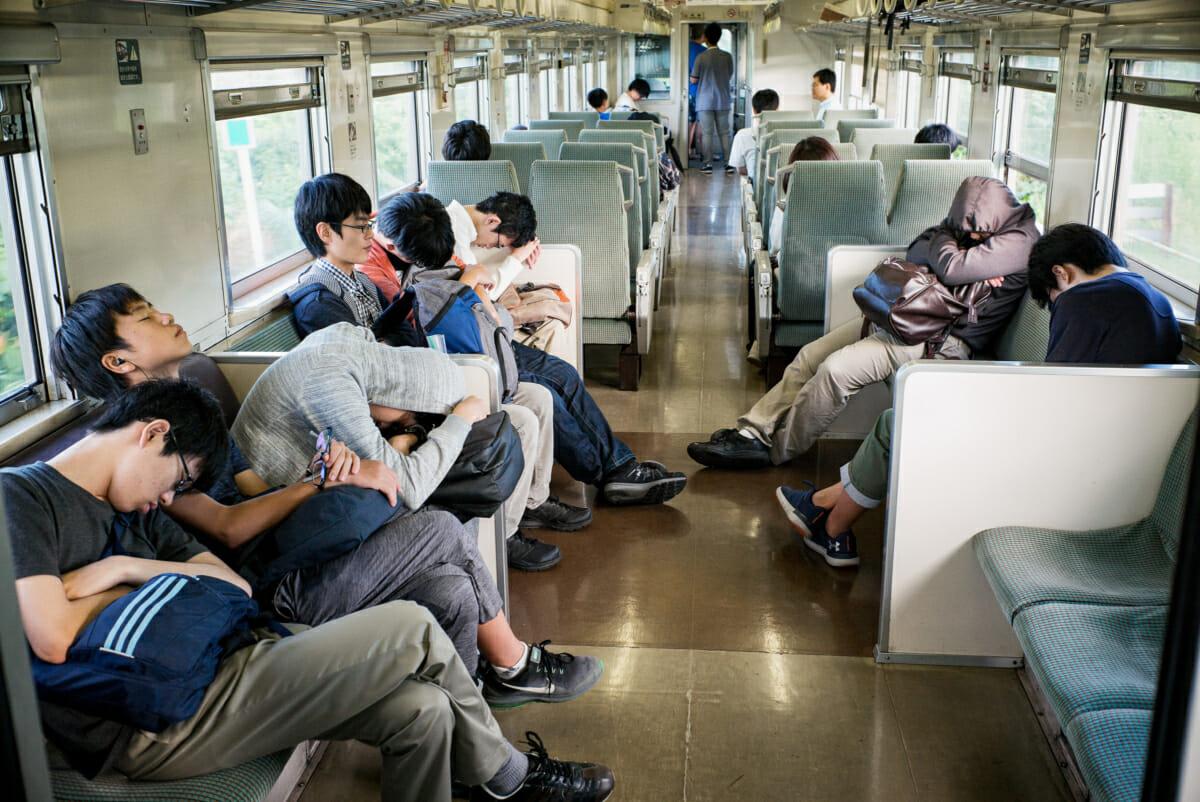 a real Japanese sleeper train
