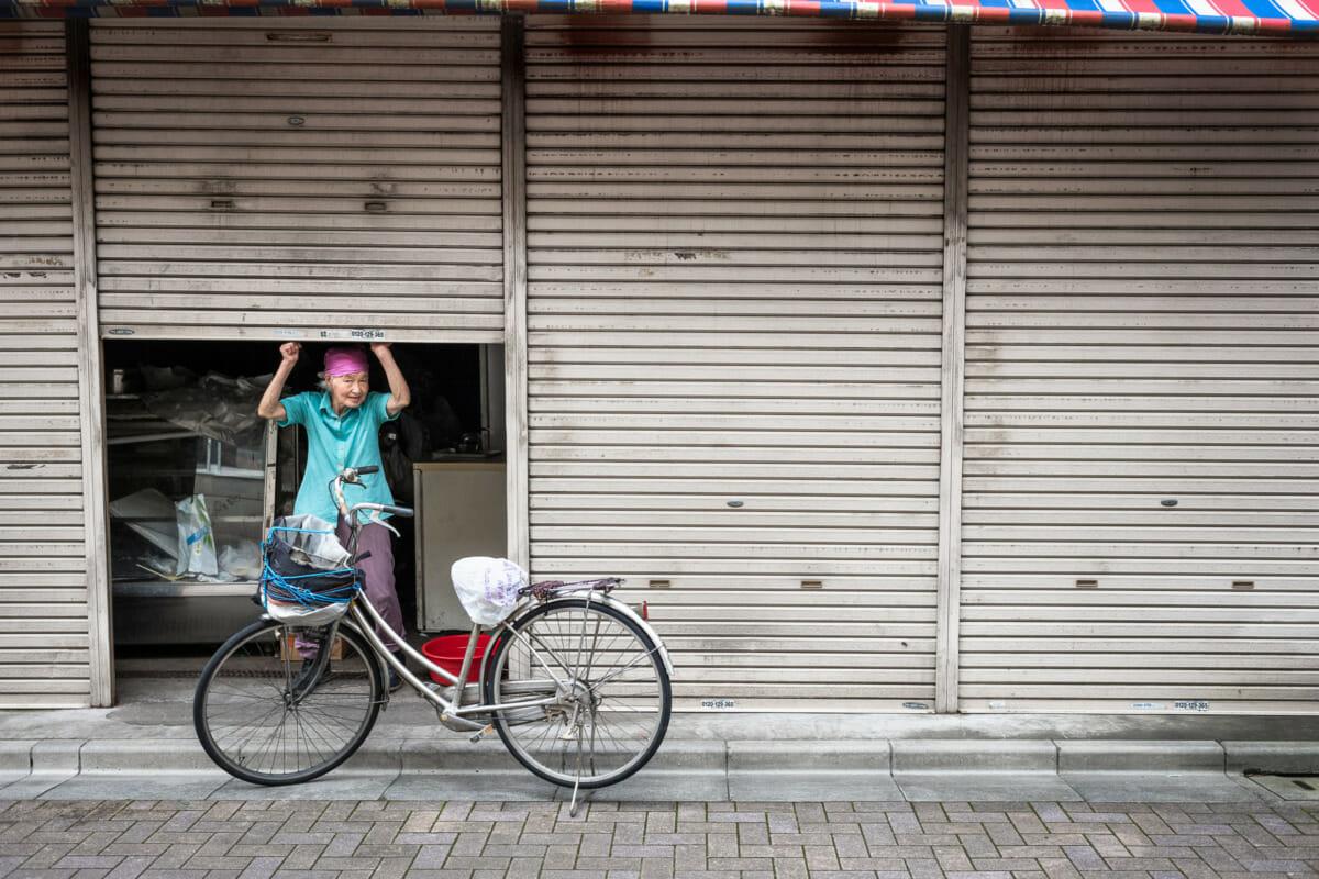 life lived in a shuttered up old Tokyo shop