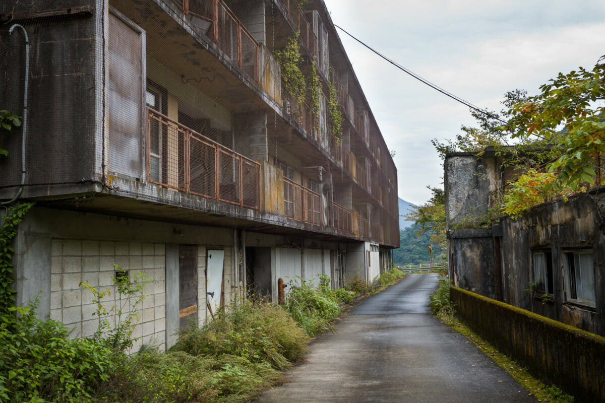 old and abandoned Japanese apartment buildings