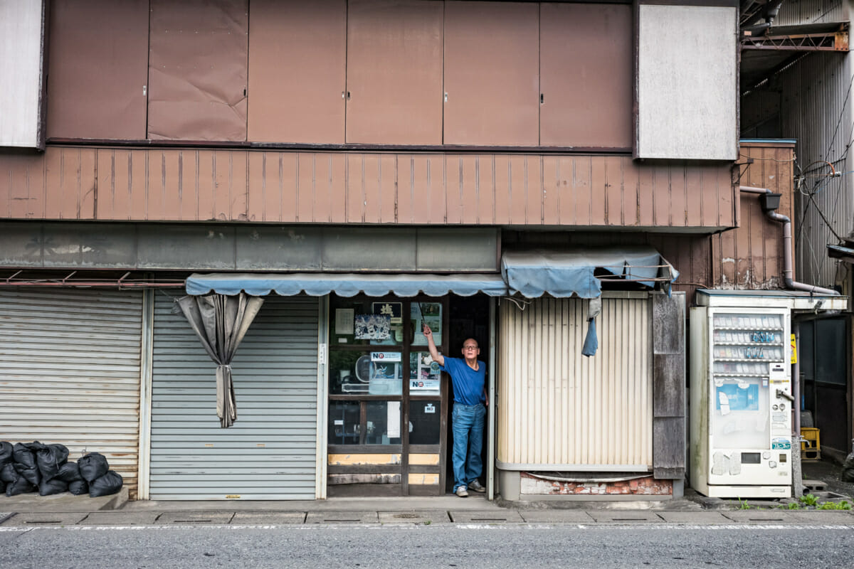 an old and faded shop in rural Japan