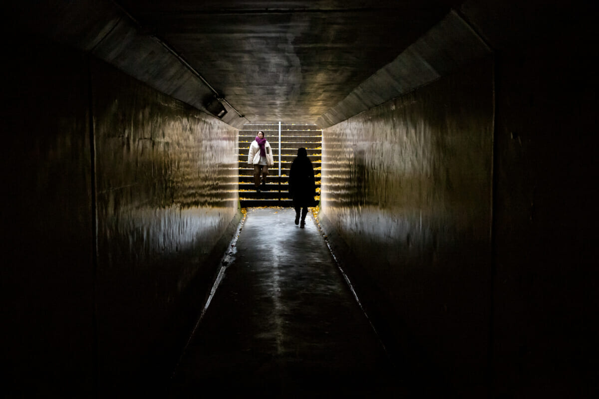 An autumnal Tokyo tunnel