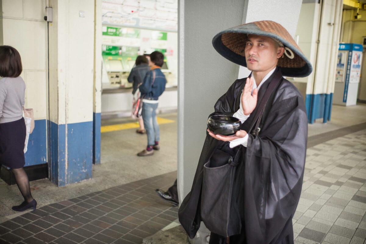 Tokyo Buddhist prayers and stares