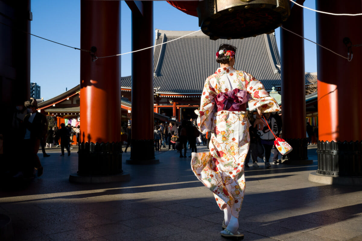 a colourful and beautiful kimono