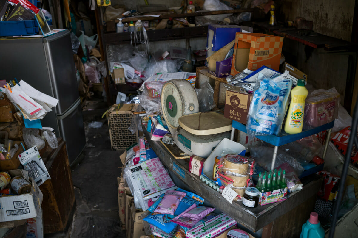An old and incredibly ramshackle Tokyo shop