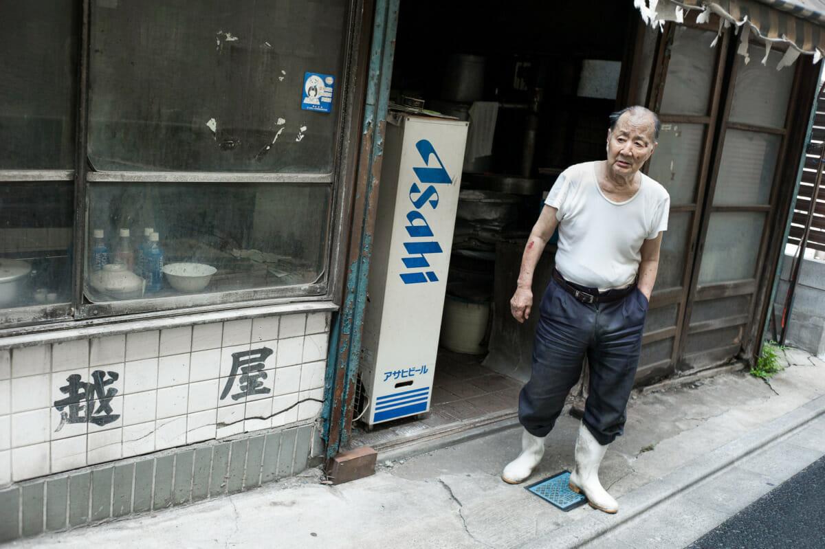an old but now demolished Tokyo tofu shop
