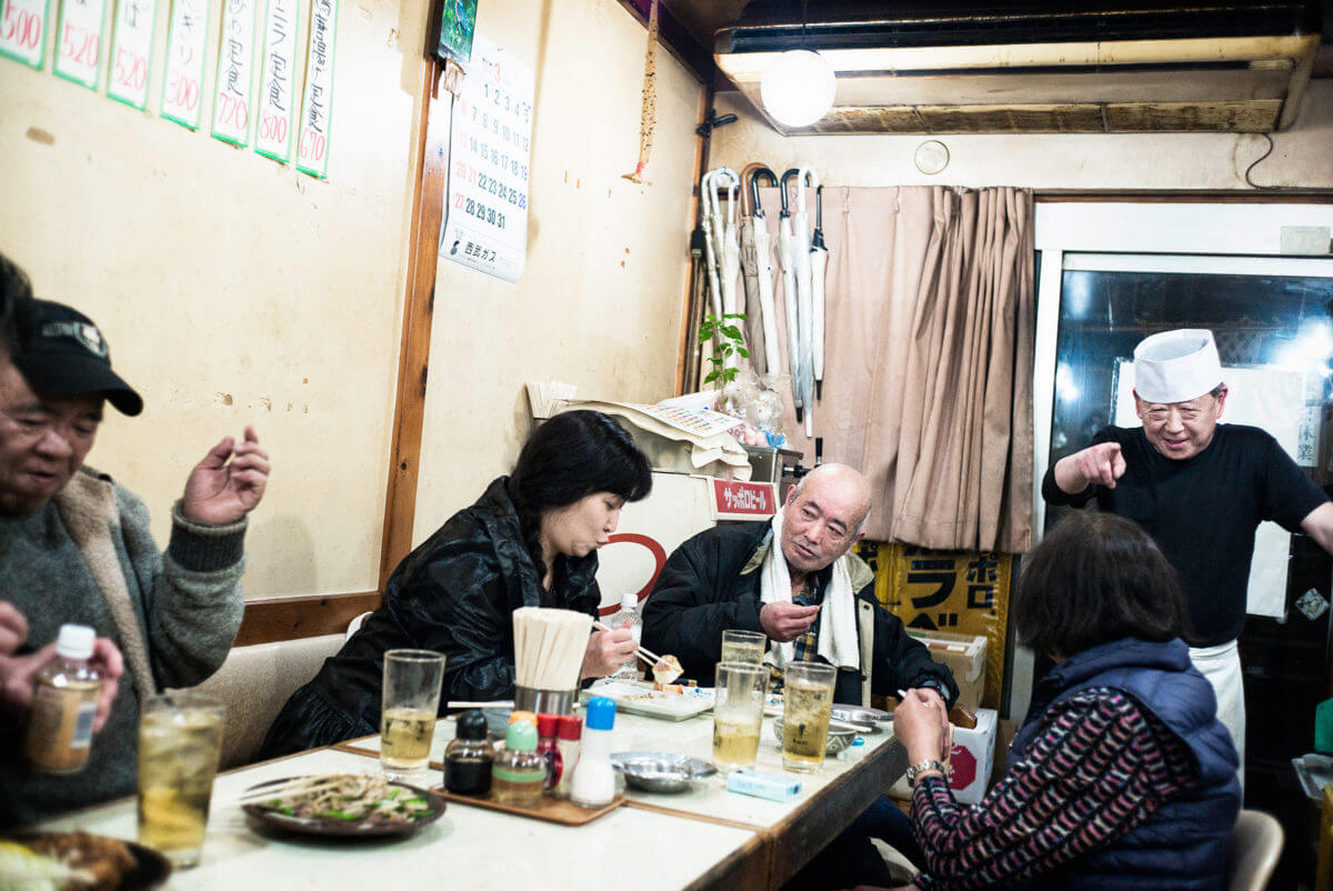 drunk Japanese in a dive bar