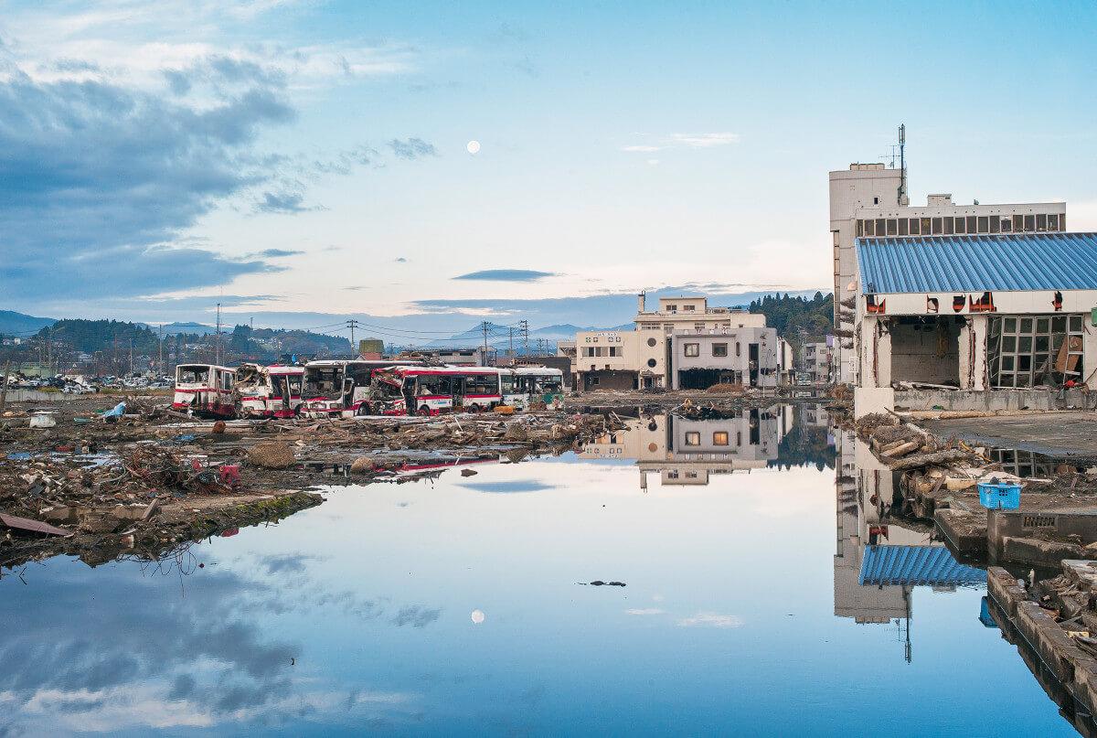 Kesennuma after the earthquake and tsunami