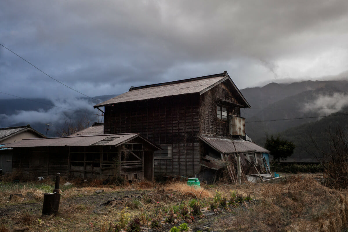 A faded and atmospheric old Japanese village