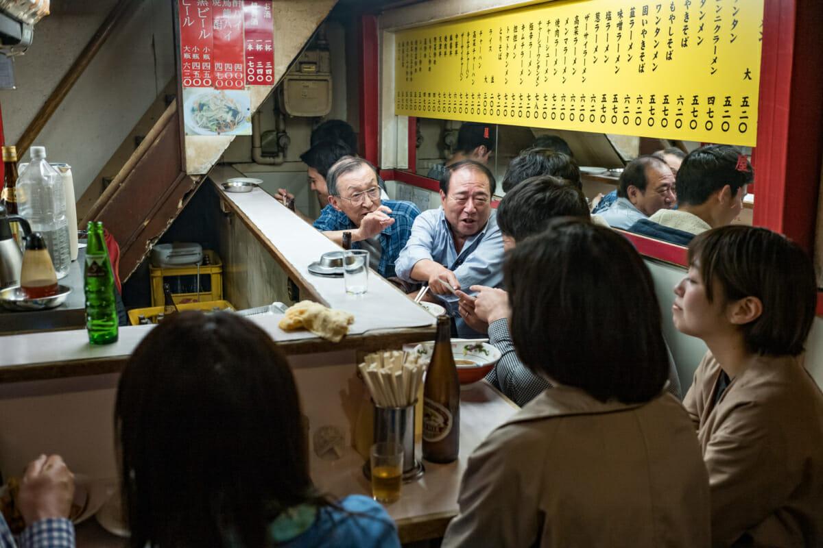 Generational banter over beers in Tokyo