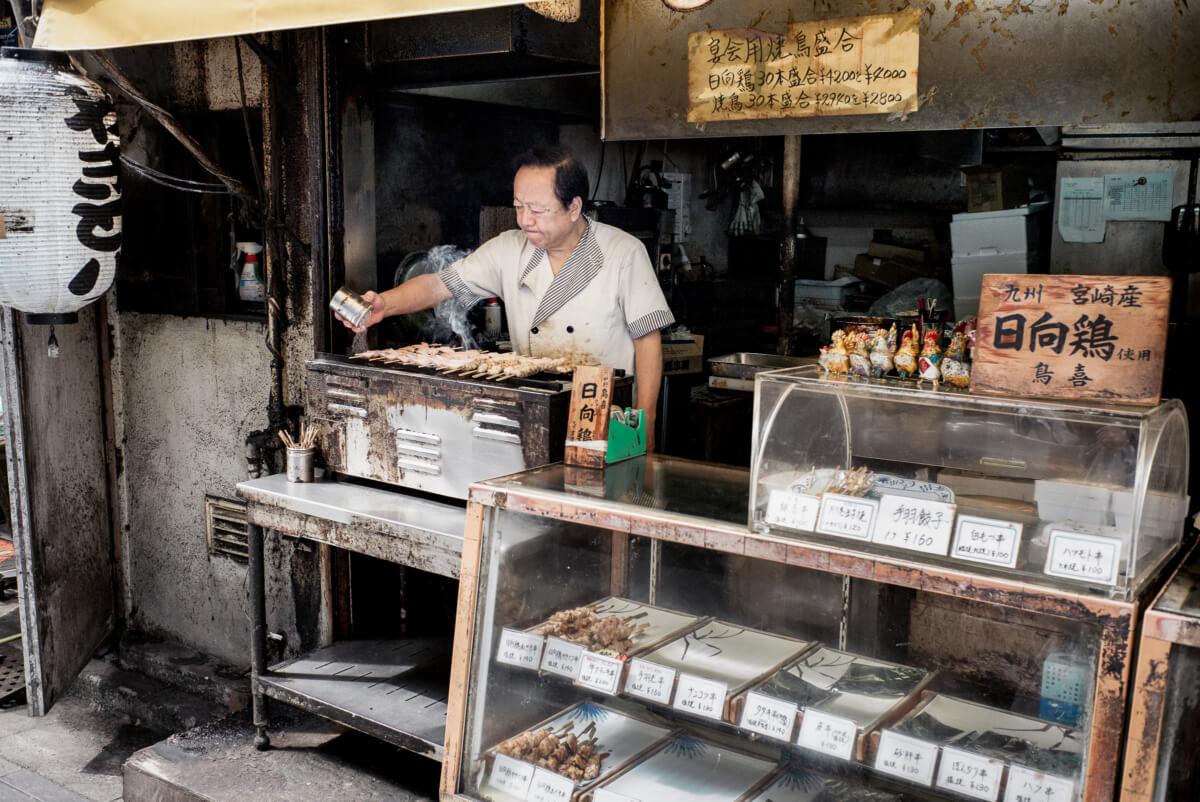 grubby Tokyo street food