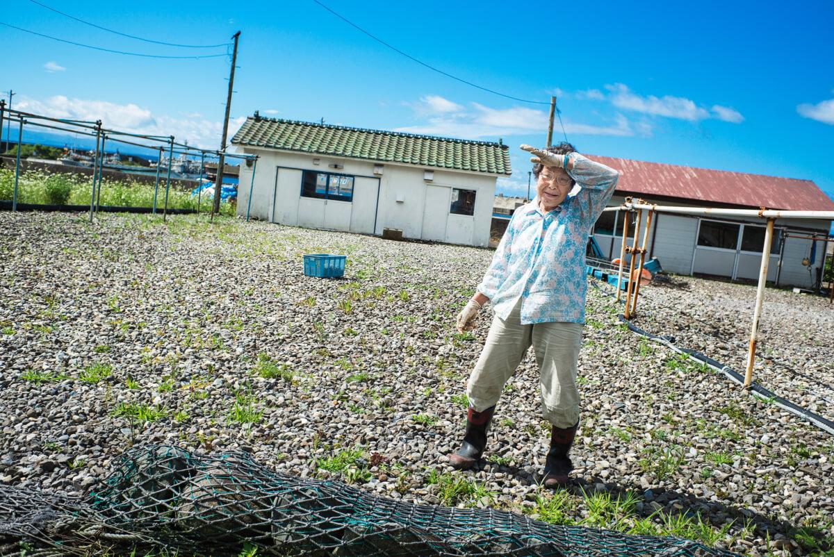 Hokkaido fishing village woman