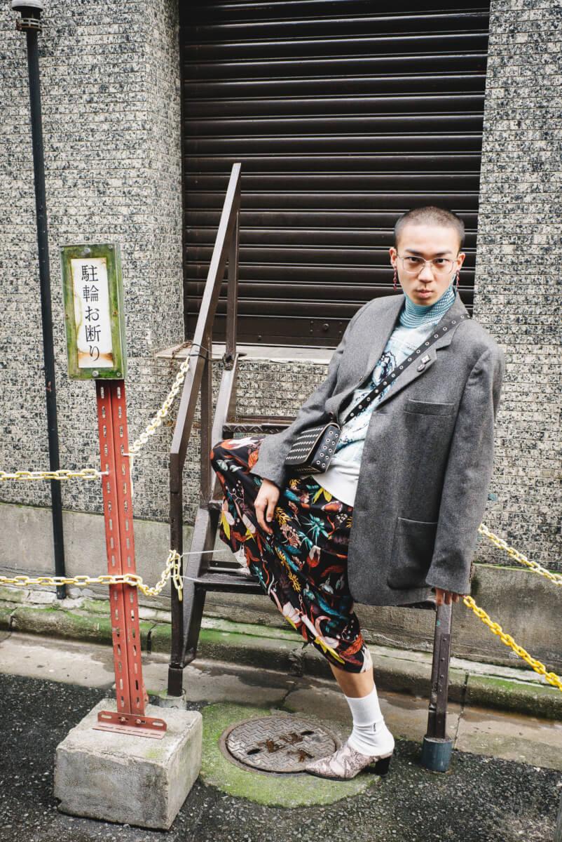 japanese street fashion a fella in a frock