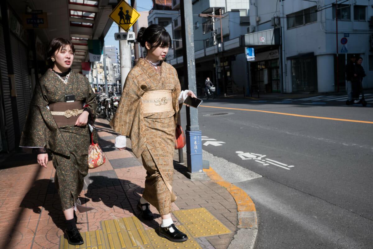 kimono east meets west meets smartphone