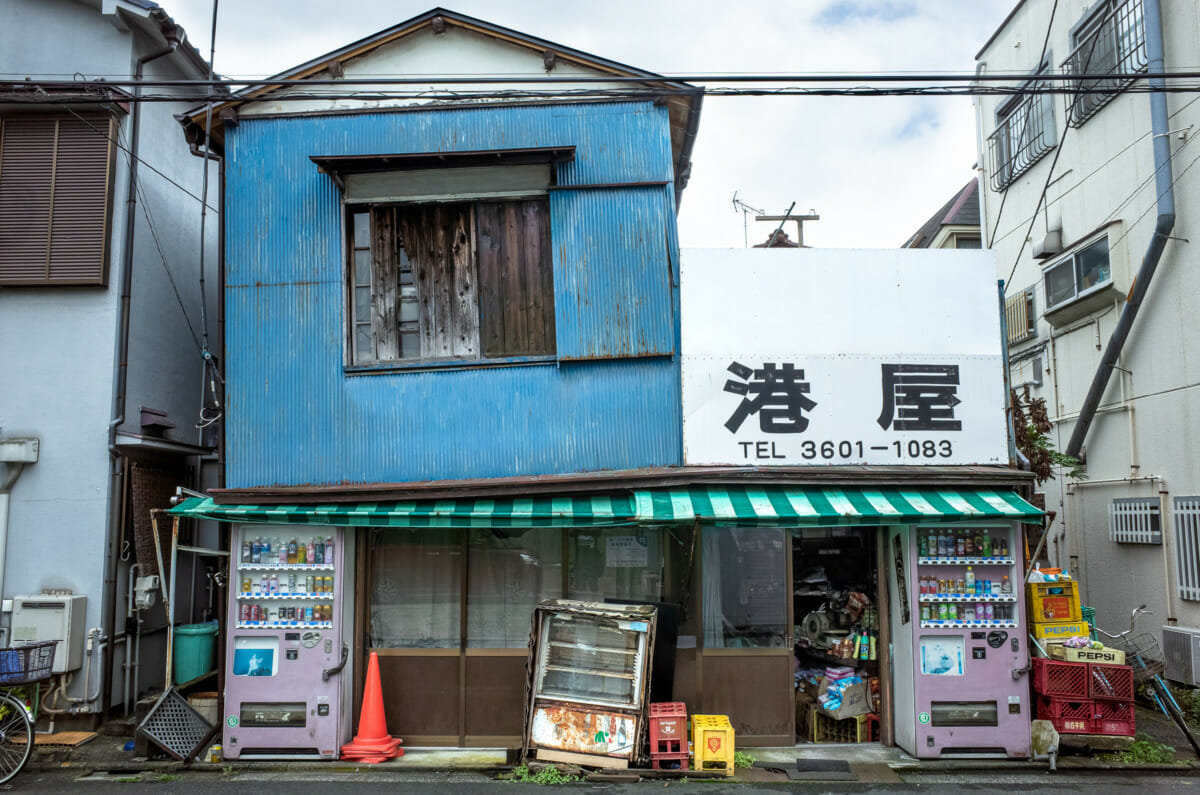 A Tokyo shop leaning this way and that