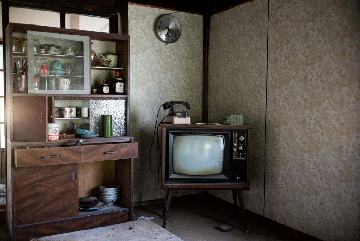 long-abandoned Japanese telephones