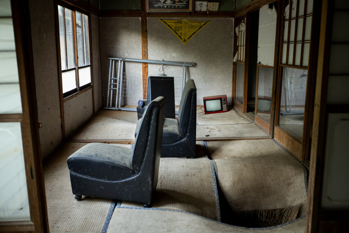 Old and long-abandoned Japanese televisions