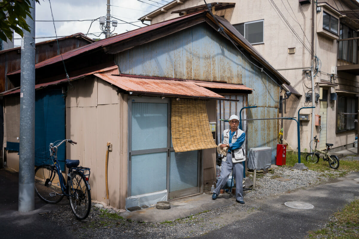 A corrugated old Tokyo house