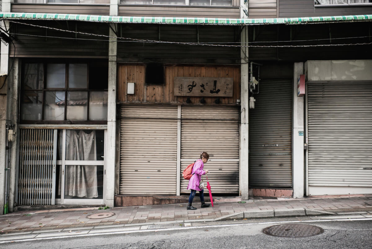 an old and faded Japanese resort town