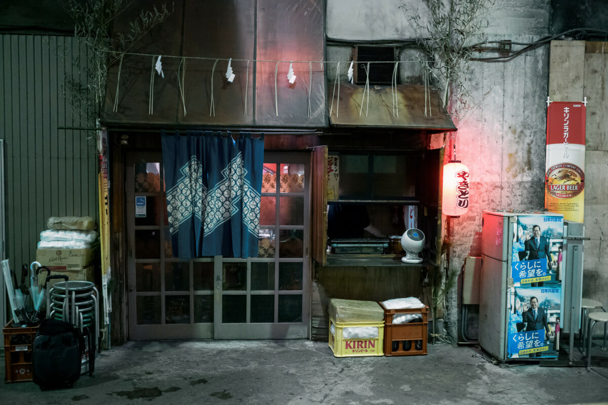 A little Japanese bar in a disused old tunnel