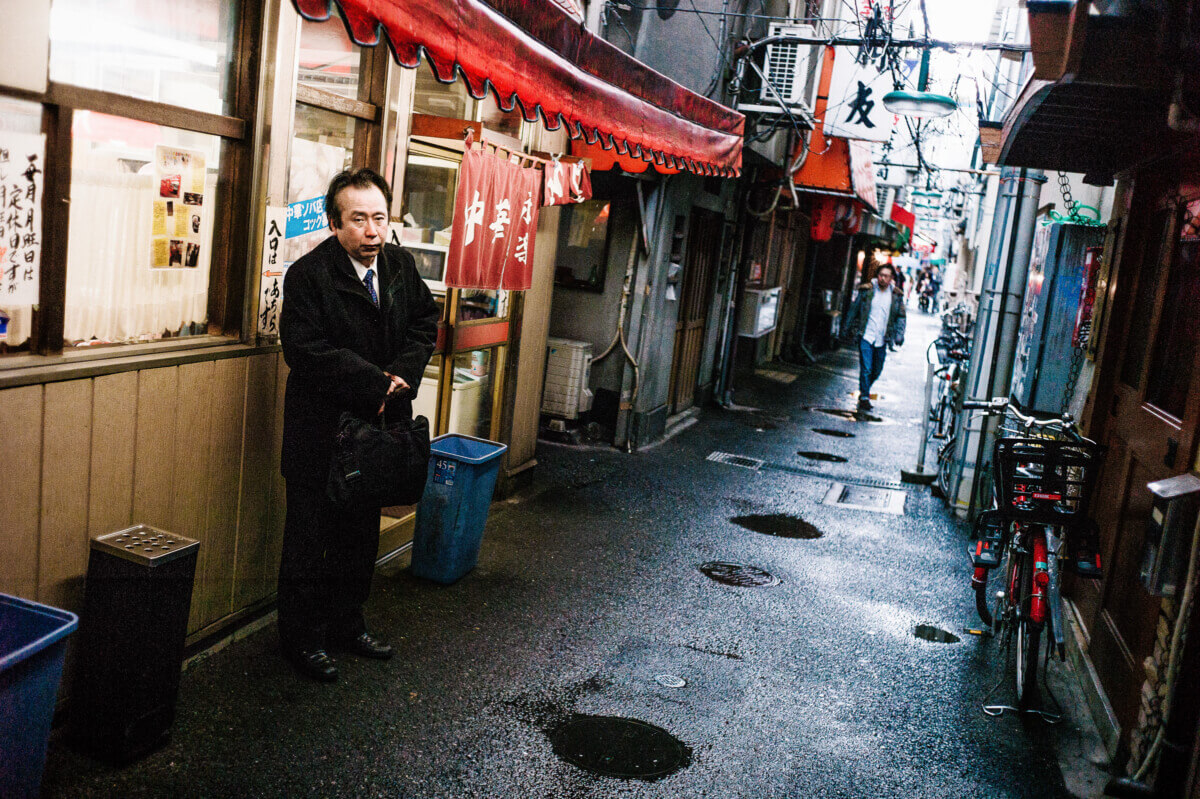 old and narrow tokyo alleyway