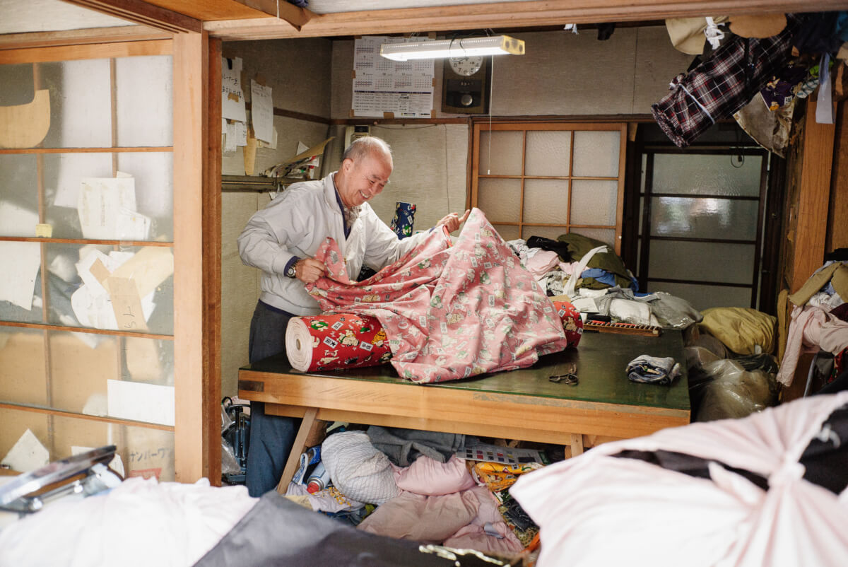 an old tokyo fabric shop