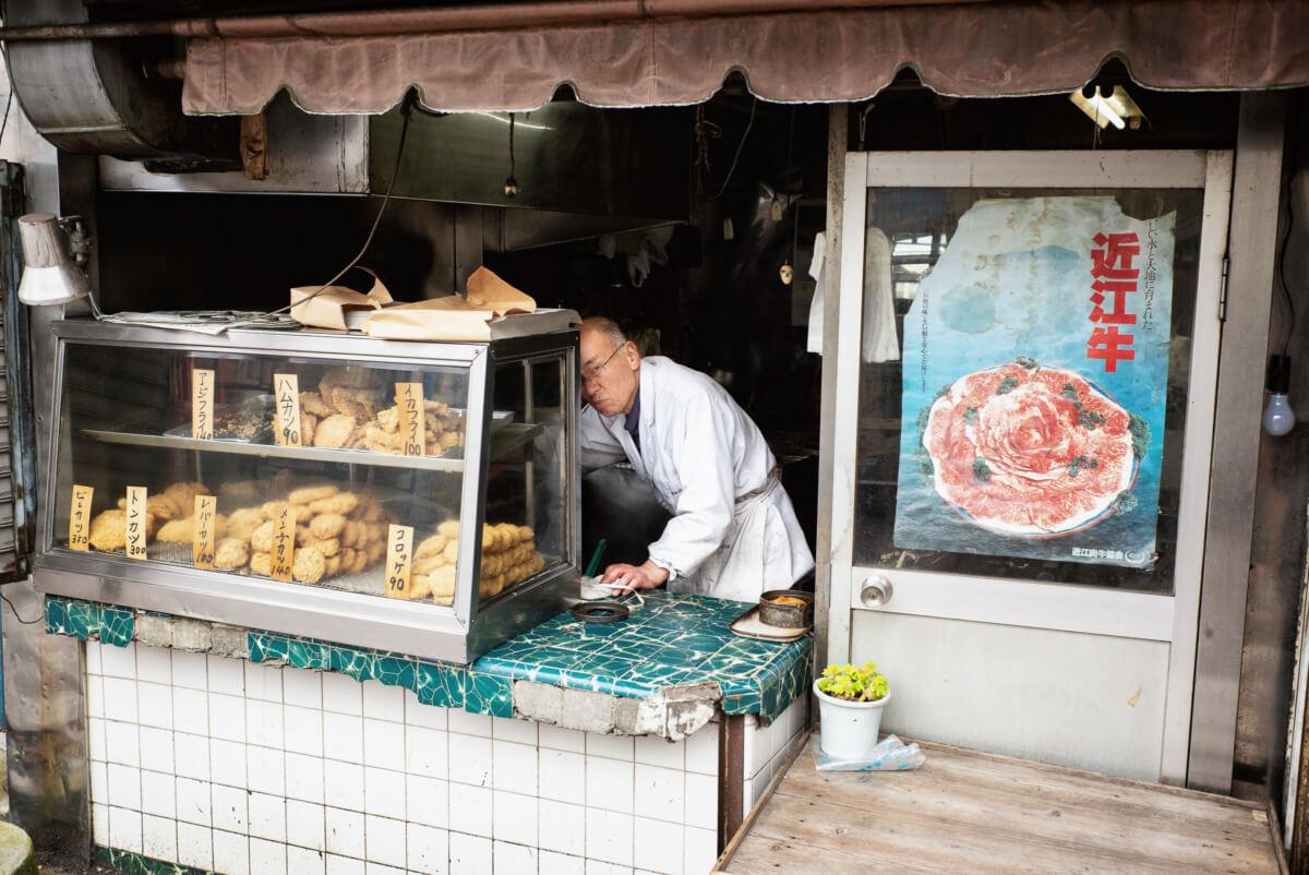 old school tokyo food shop stares