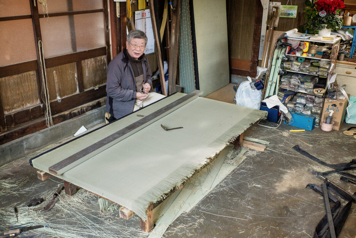 old and traditional tokyo tatami shop