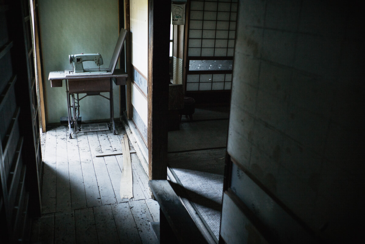 a quiet and abandoned japanese village