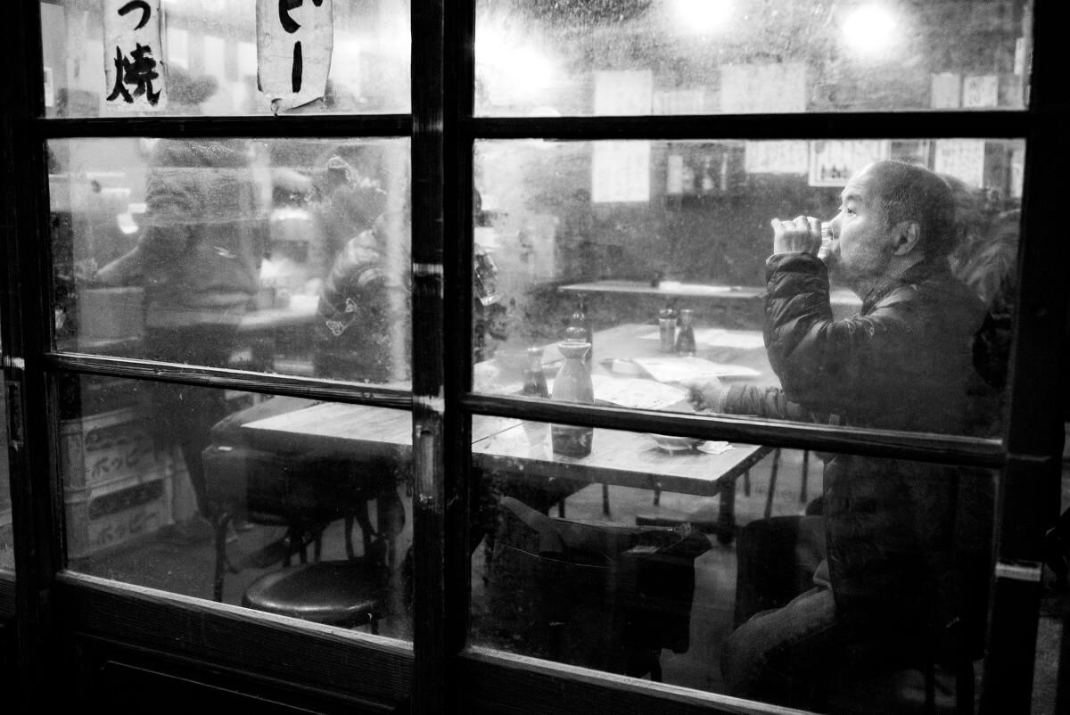 quiet sake in a Tokyo bar