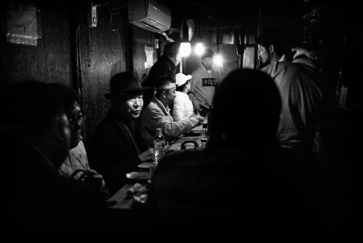 small and shadowy Tokyo bar