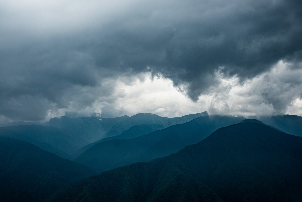 stormy tokyo mountains
