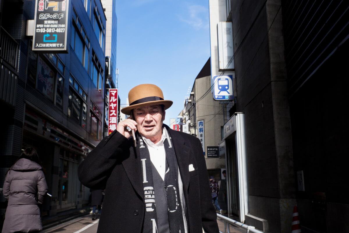 a stylish Japanese salaryman in Tokyo