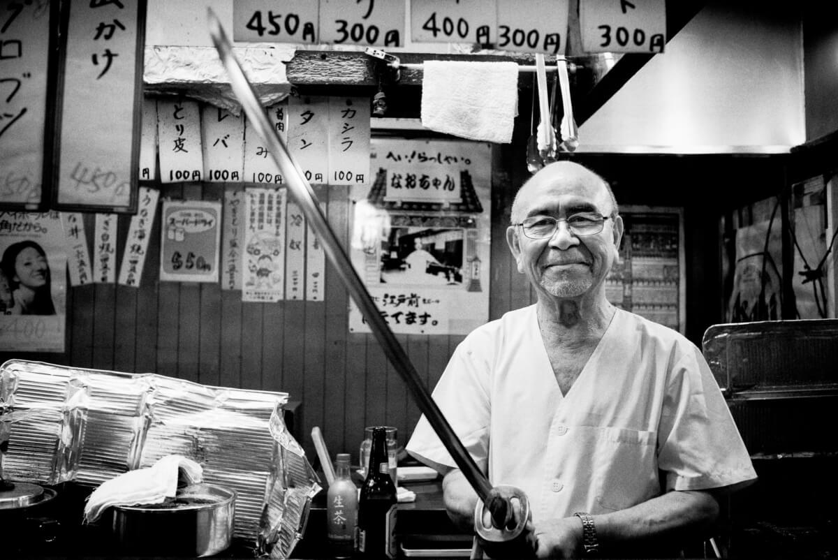 A samurai sword wielding Tokyo bar owner