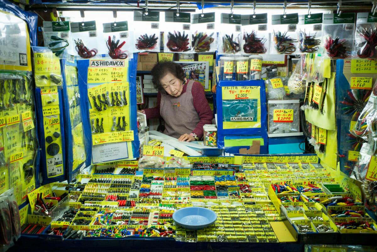 tiny Akihabara electronics shop