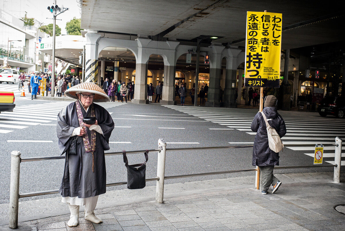 Tokyo Buddhist versus Christian