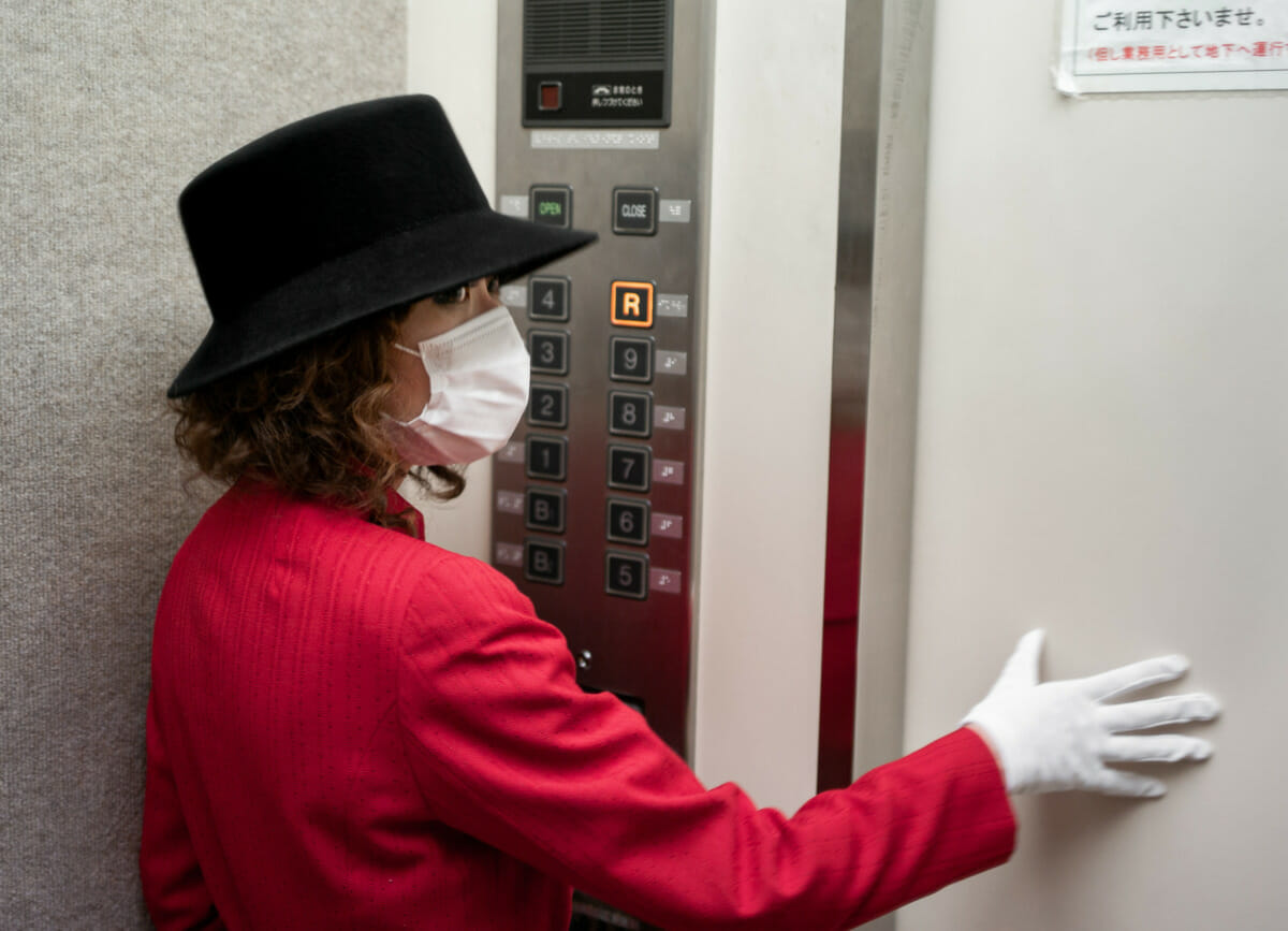 A Tokyo elevator girl