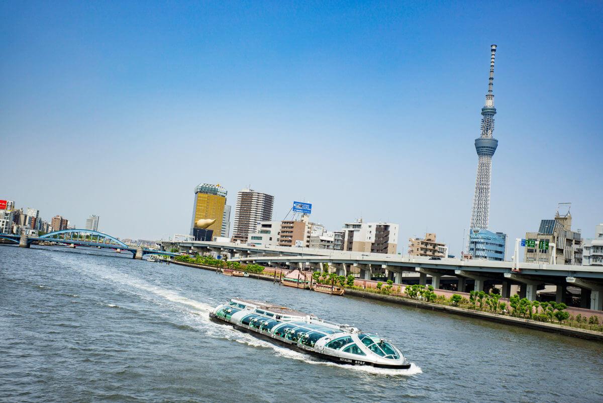 Futuristic Tokyo cruise