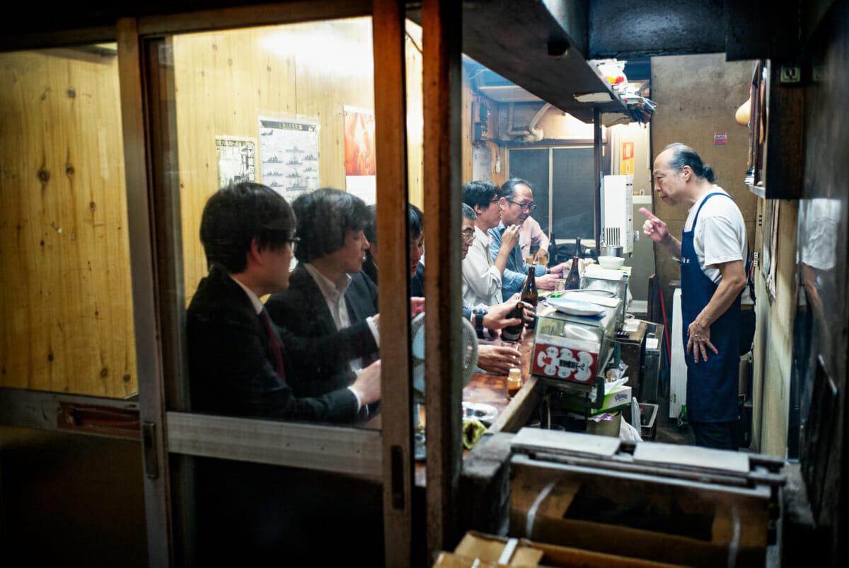 small and cramped tokyo bar