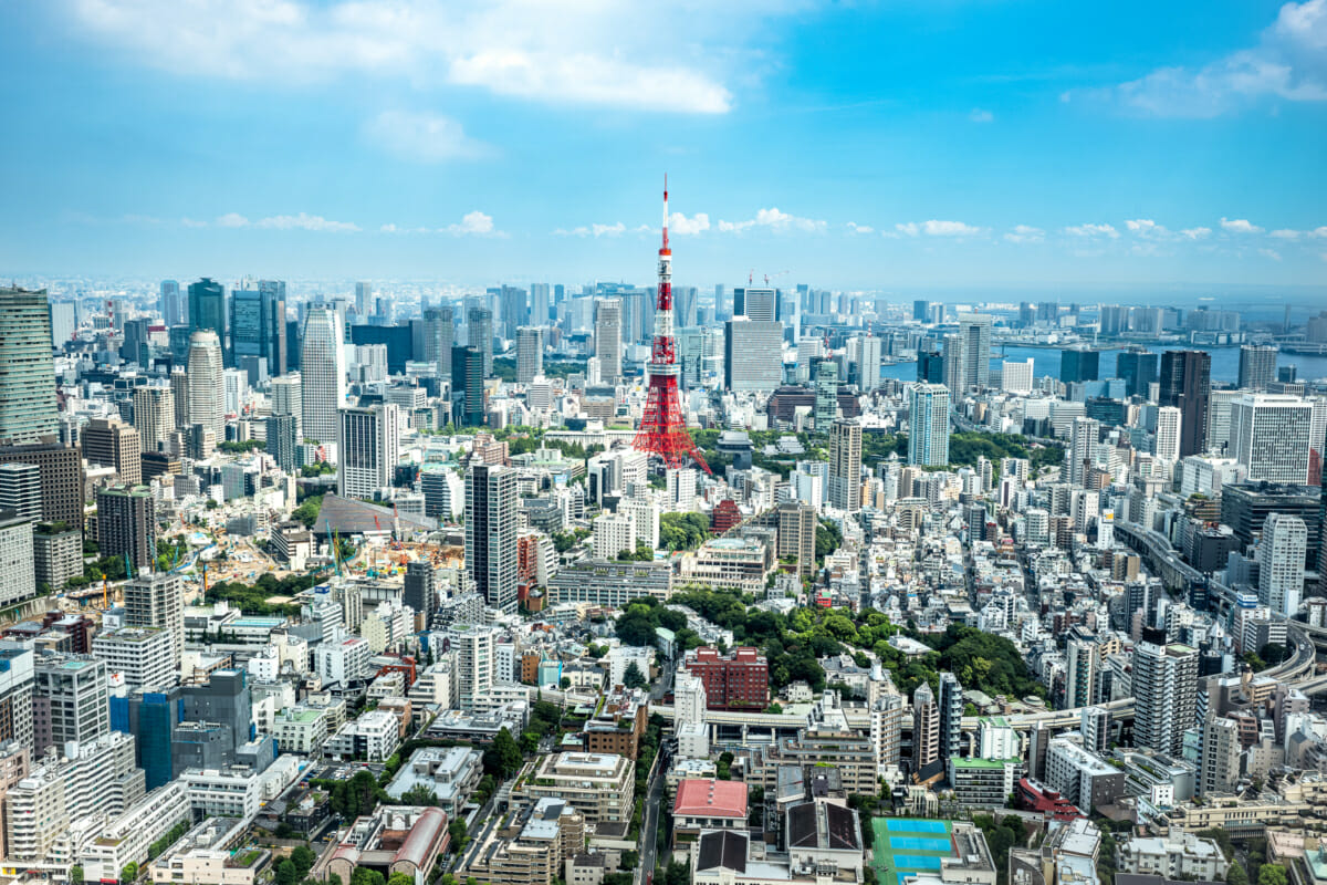 Tokyo skyline photographed from above