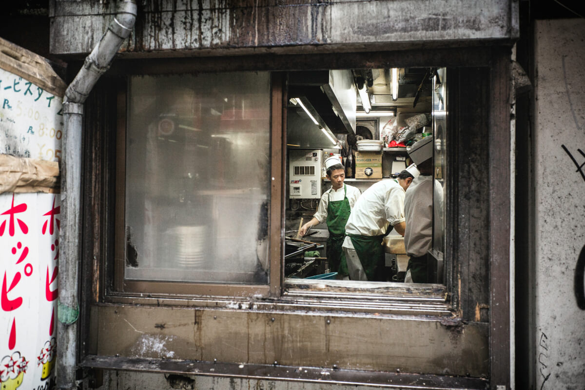 dirty Japanese restaurant kitchen