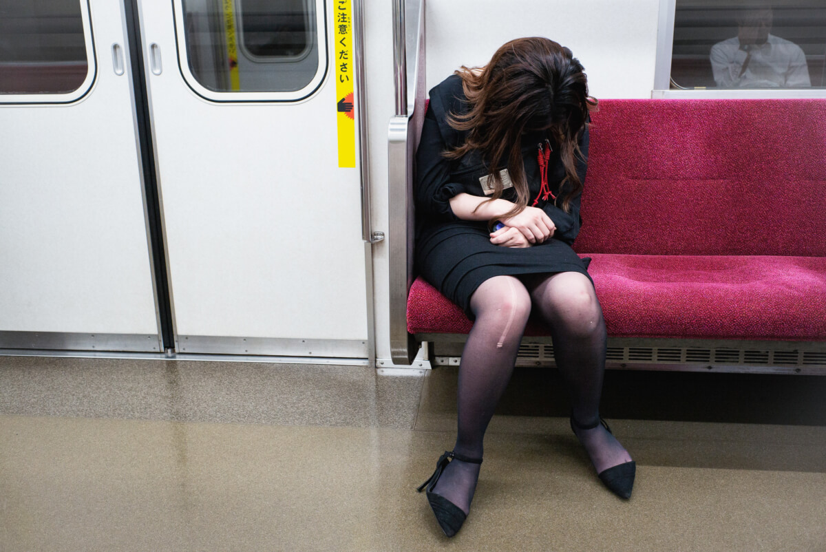 tokyo saturday night and Sunday morning train