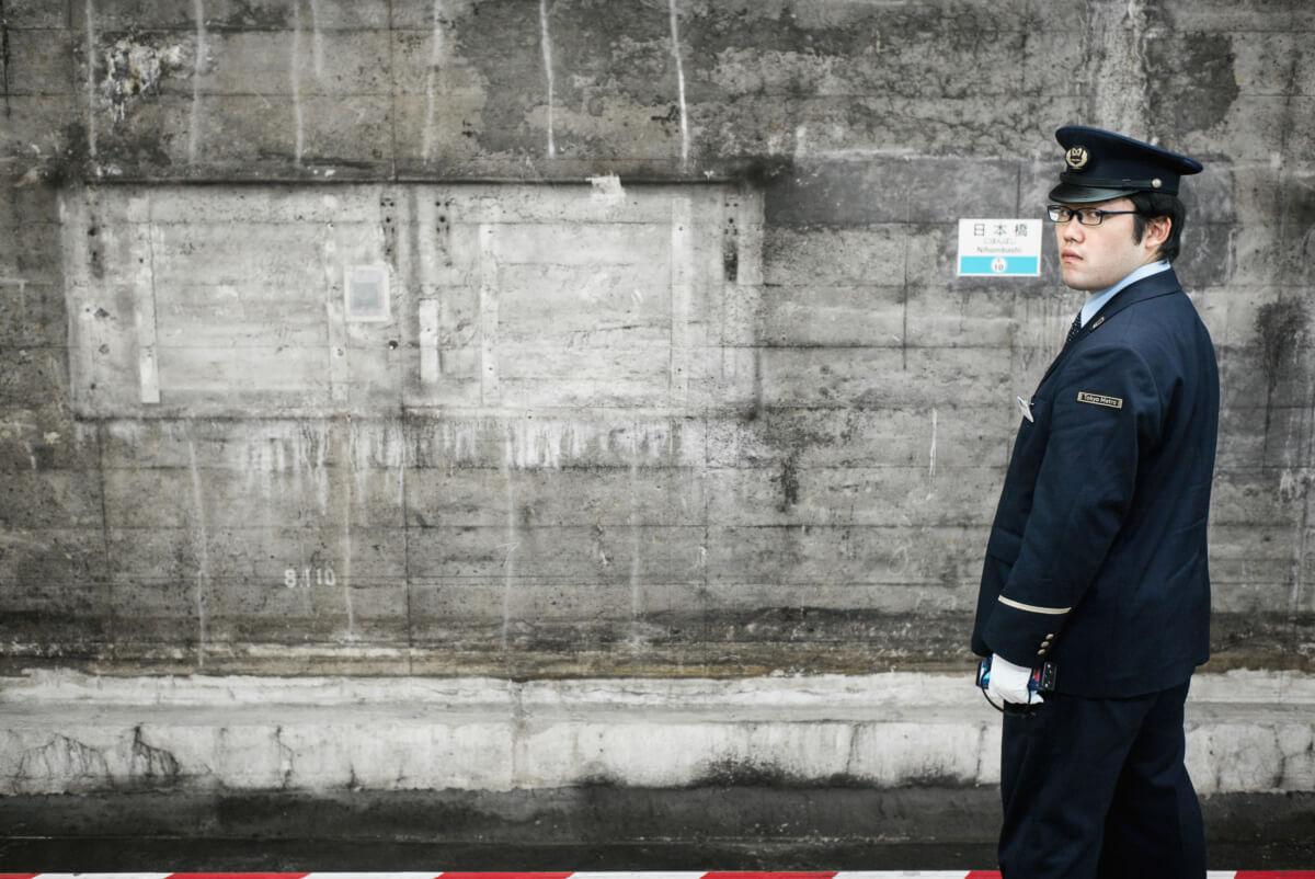tokyo underground concrete and stares