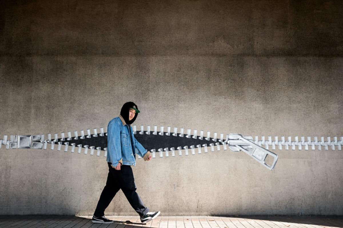 tokyo urban zip art and looks