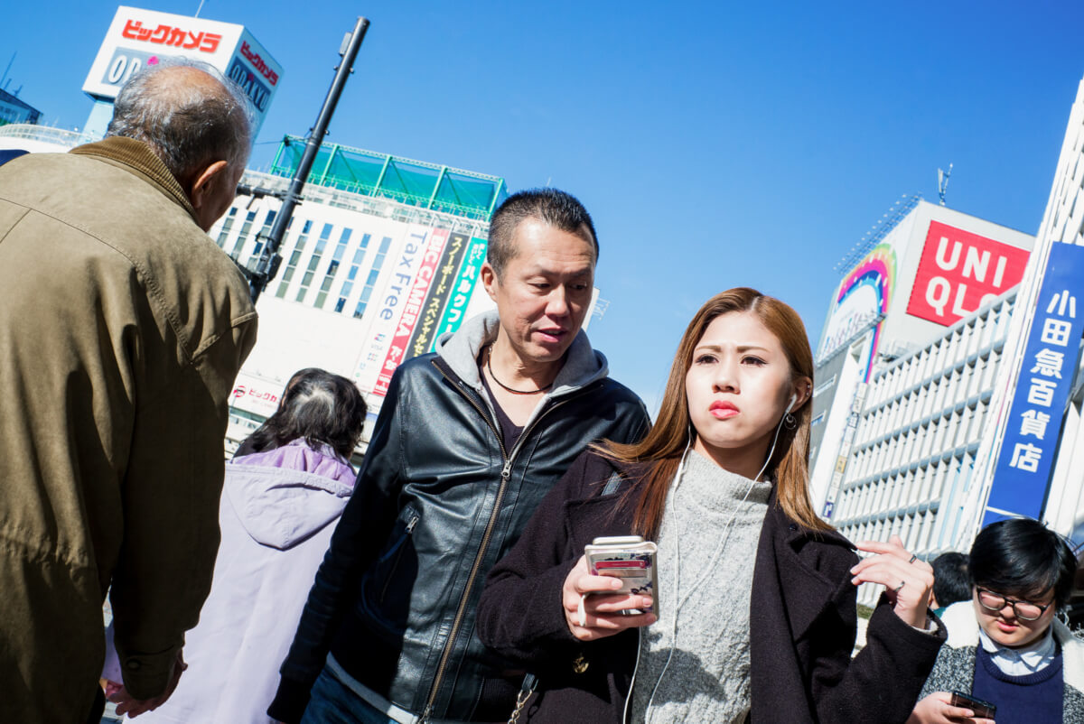 unwanted attention in Tokyo for a young Japanese woman