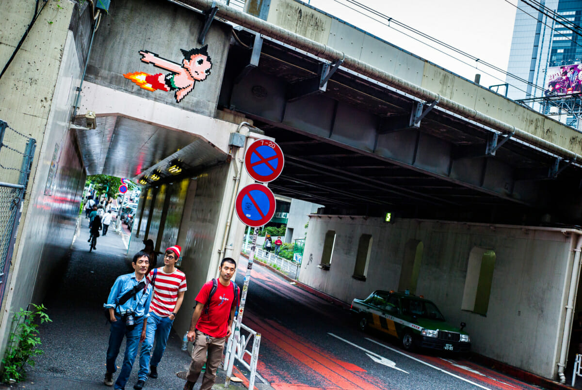 astro boy and where's Wally in Tokyo