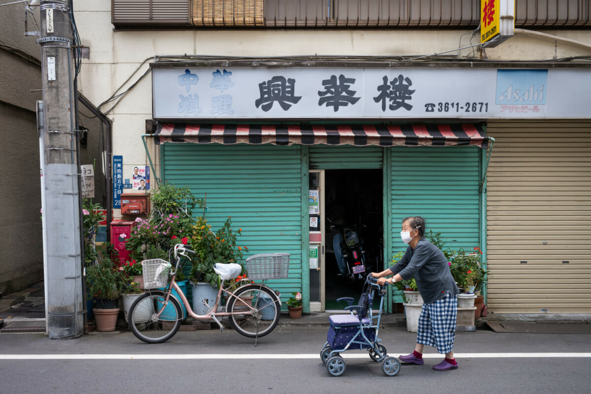faded and dilapidated old tokyo shopfronts